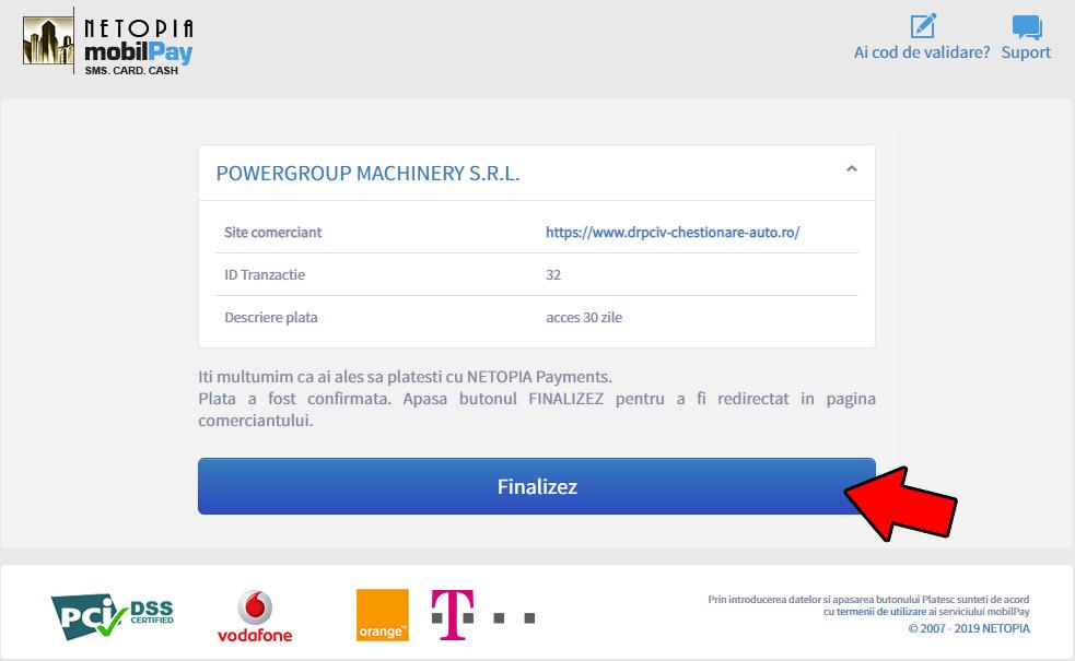 Plata SMS pas3